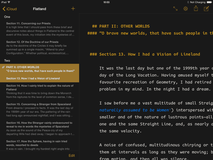 Ulysses On The iPad